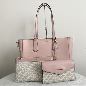 Michael Kors Blossom Pink Kimberly 3 in 1 tote set